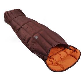 Mountain Equipment Dreamcatcher Sleeping Bag Damen dark chocolate/blaze